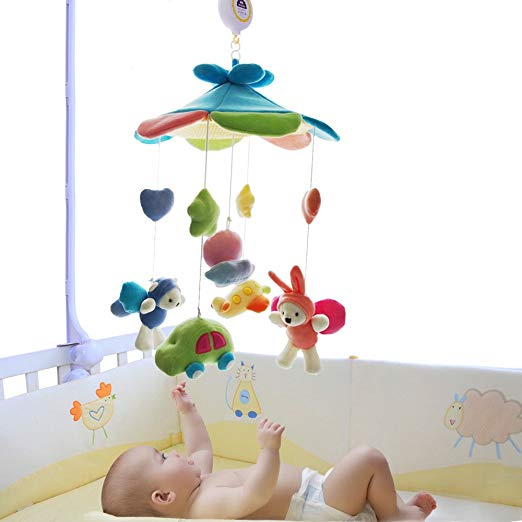 SHILOH Baby Crib Decoration Newborn Gift 60 tunes Plush Musical Mobile